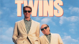 """Арнольд Шварценеггер и Дэнни Девито. Постер фильма """"Близнецы"""""""